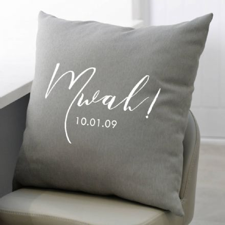 Personalised Mwah! Cushion